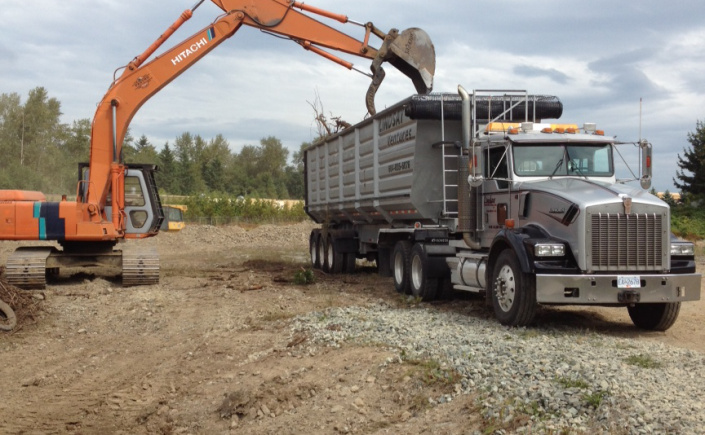 Hauling brush in the Fraser Valley