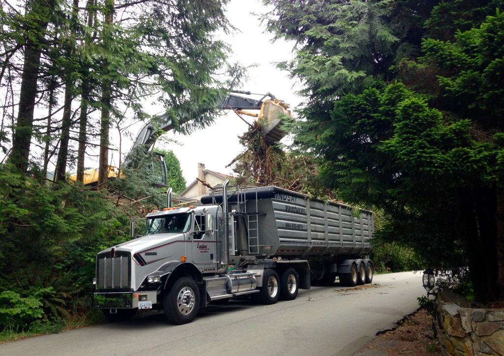 Hauling brush in West Vancouver
